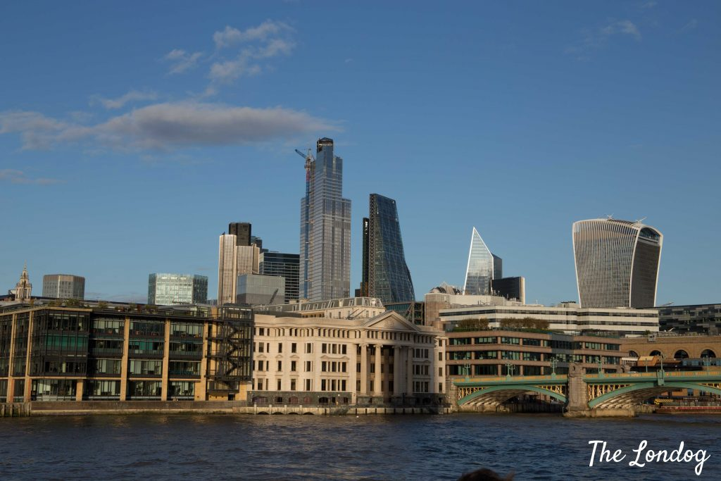 London landscape from river