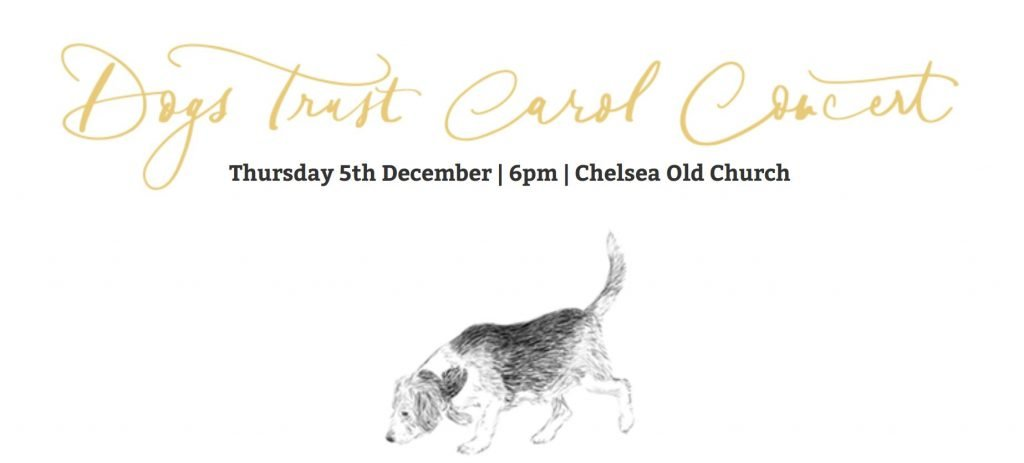Dogs trust christmas carol serivce banner