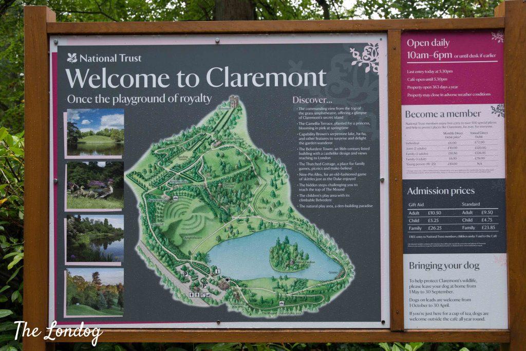 Claremont Landscape Garden map