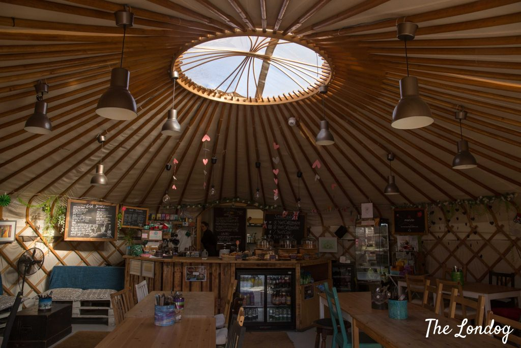 View of the Yurt Cafe main room