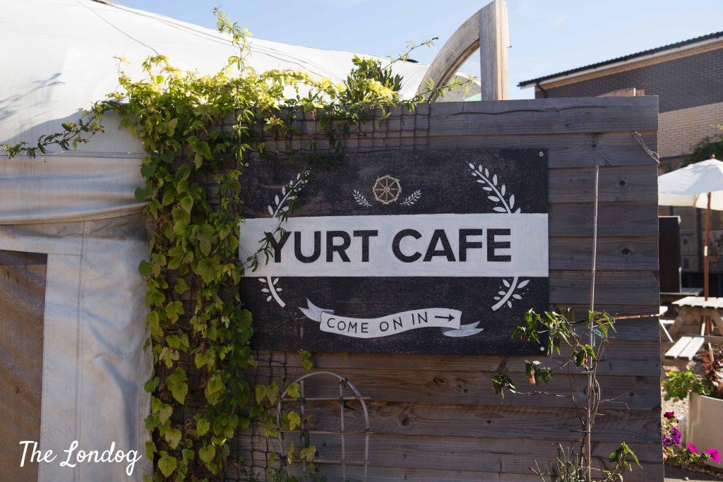Door of Yurt Cafe