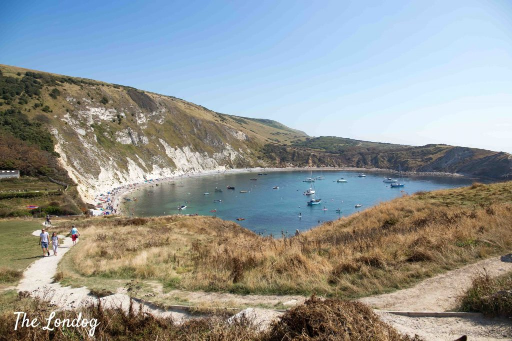 View of Lulworth Cove from the hill