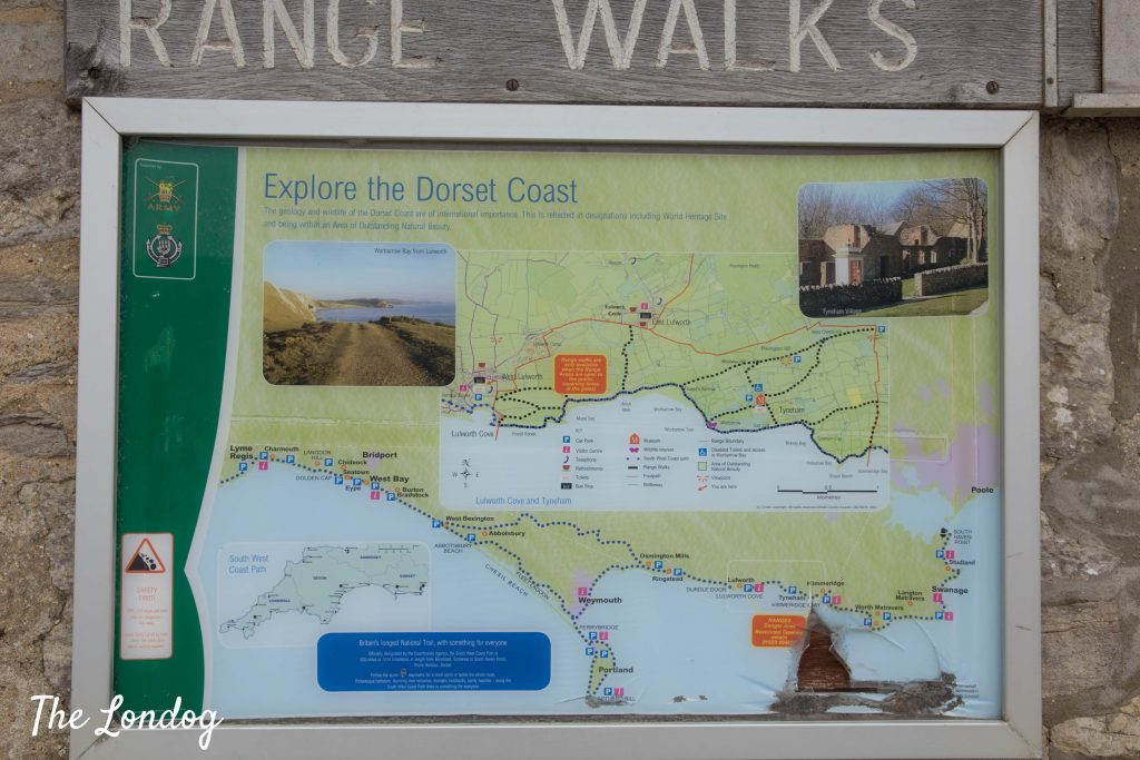 Map of Jurassic Coast Range Walks