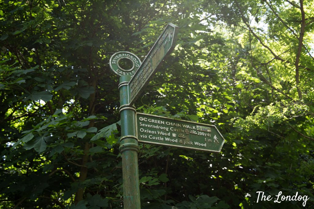 Green Chain Walk sign