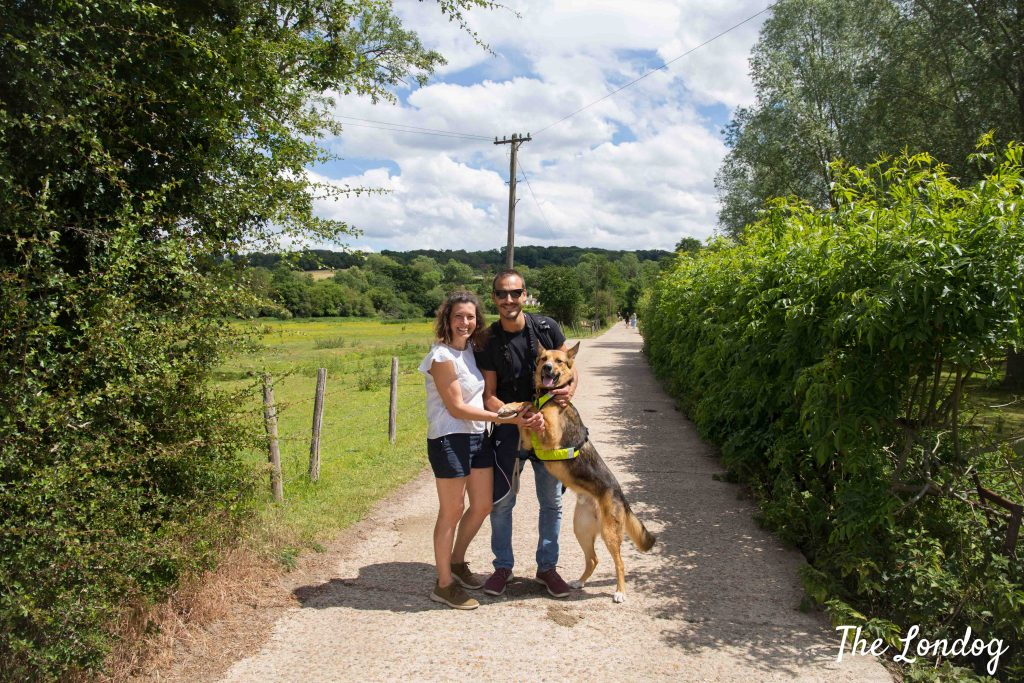 Family walking on the Chess Valley Walk