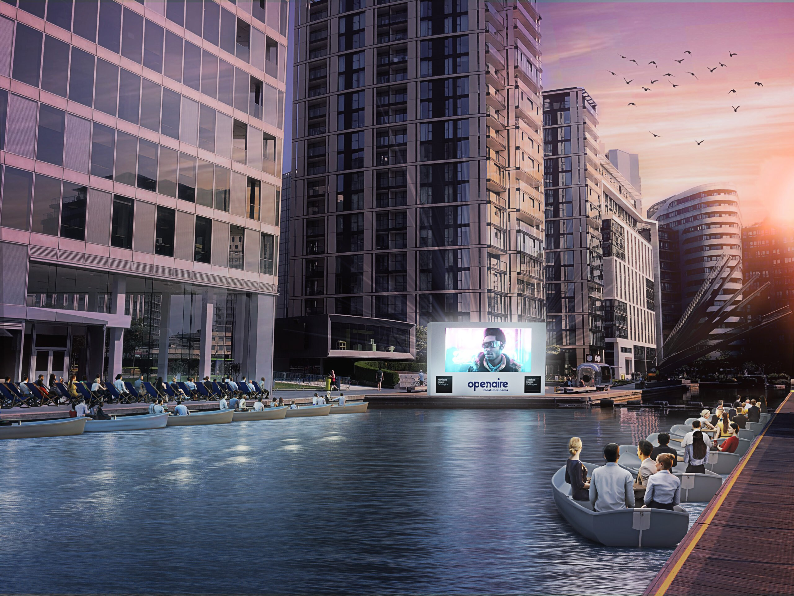 Openair Float in cinema rendering