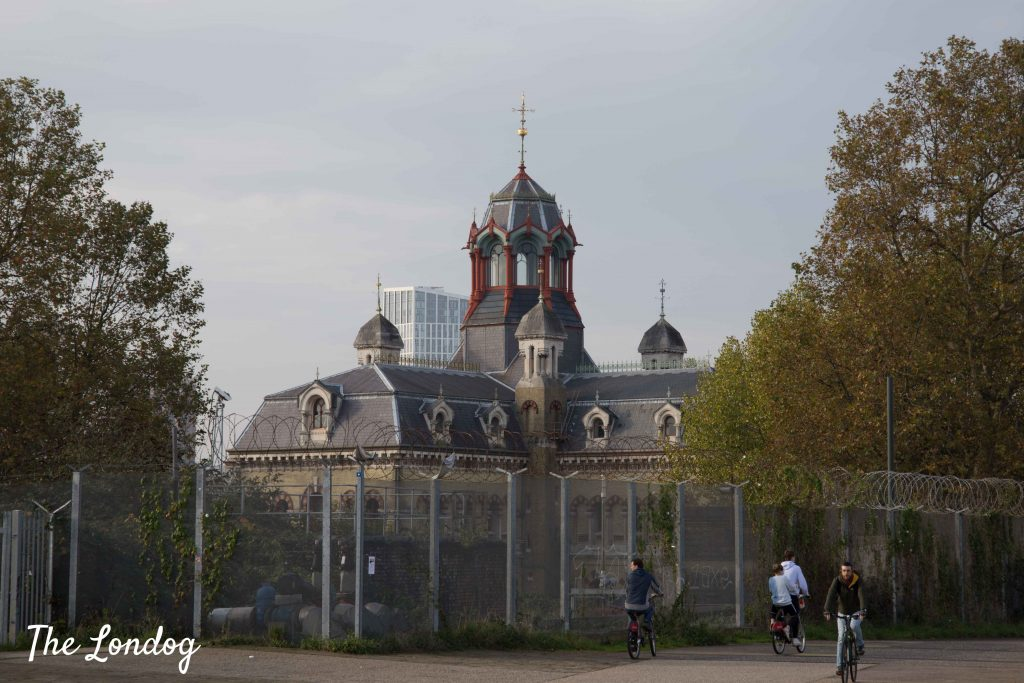 Outside view of Abbey Mills Pumping Station